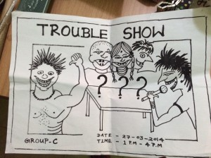 One of my kids drew this flyer for their drama.