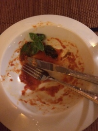 Main course damage!