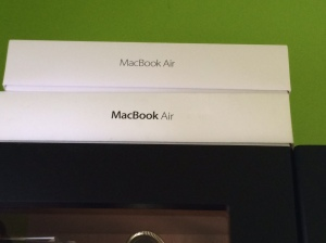 I have begun collecting Macbook Air boxes.