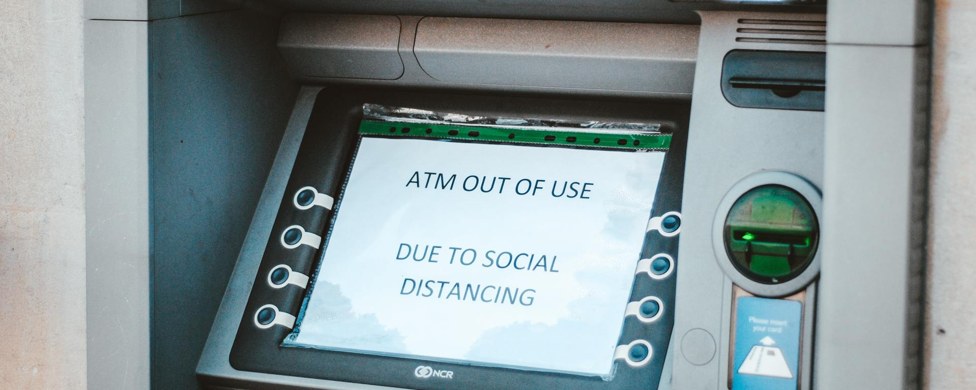 Out of use ATM machine